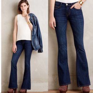 Current/Elliot The Low Bell Blue Basin Flare Jean